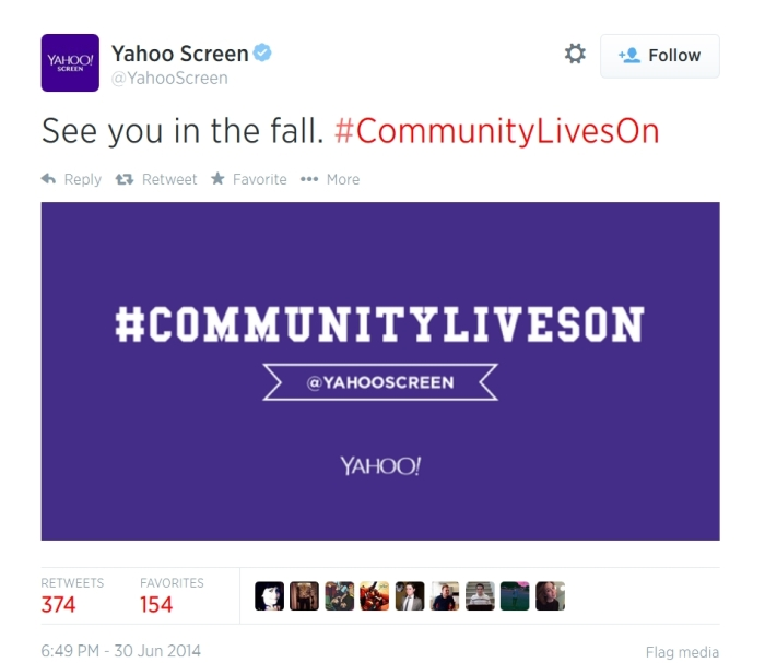 digital entertainment marketing community yahoo screen