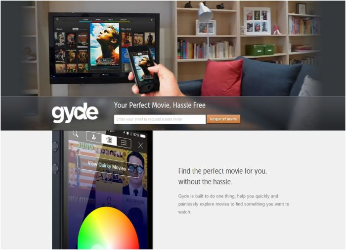 Screenshot Gyde.tv