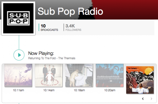 Sub Pop's TuneIn radio station