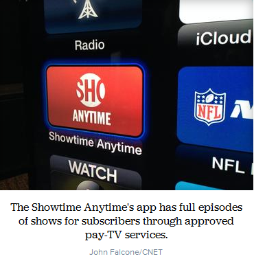 digital entertainment post showtime anytime app