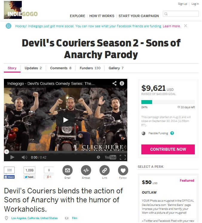 digital entertainment post indiegogo sons of anarchy