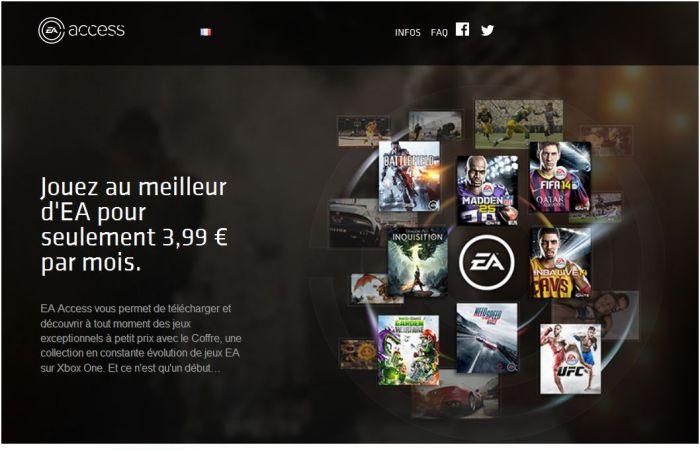 Capture d'écran sur ea.com