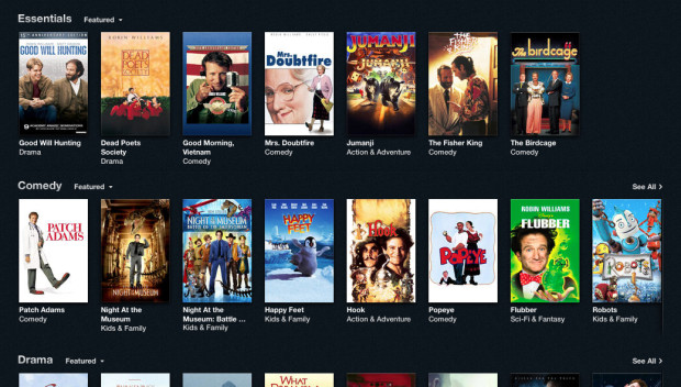 digital entertainment post marketing robin williams movies itunes store