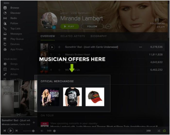 digital entertainment post marketing spotify