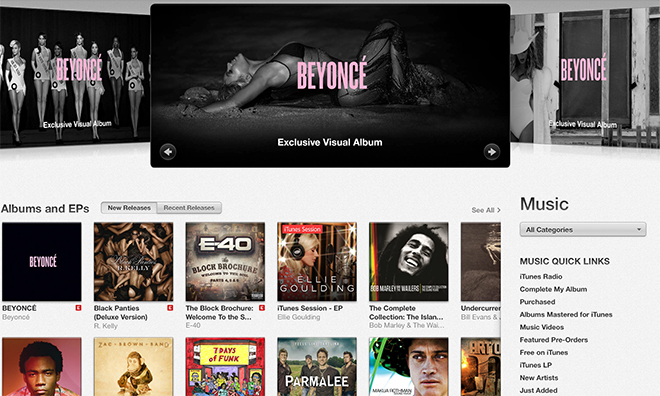 digital entertainment post beyonce apple