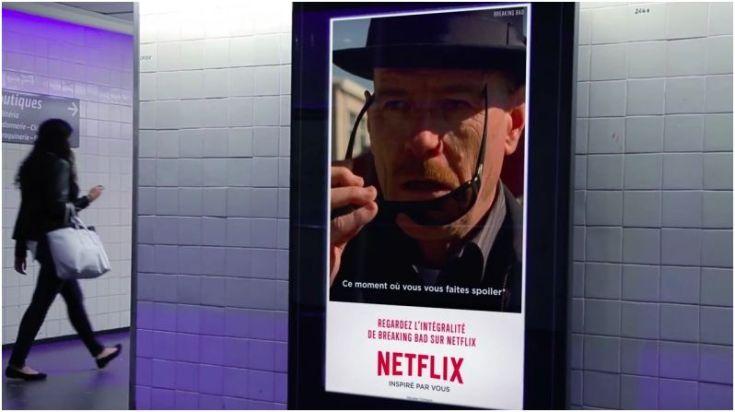 Publicité Breaking Bad pour Netflix