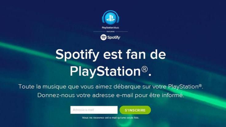 Capture d'écran de Spotify annonçant l'accord avec Sony