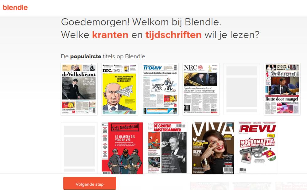 Screenshot Blendle.nl