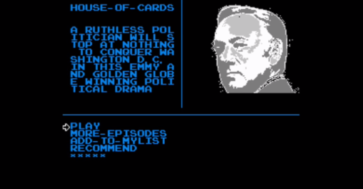 Above: Browsing Netflix shows on the NES. Image Credit: Netflix