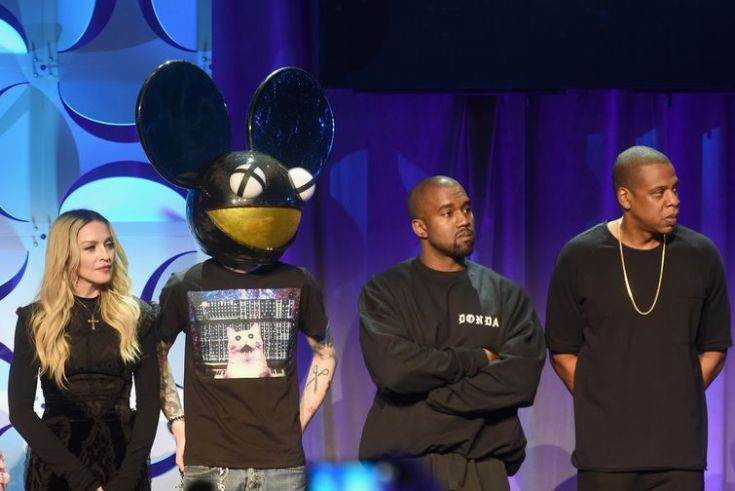 Members of Tidal at the awkward press event.