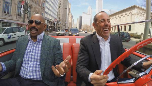 "Mr. Seinfeld with Steve Harvey in an episode of ""Comedians in Cars Getting Coffee."" Credit Comedians in Cars Getting Coffee"