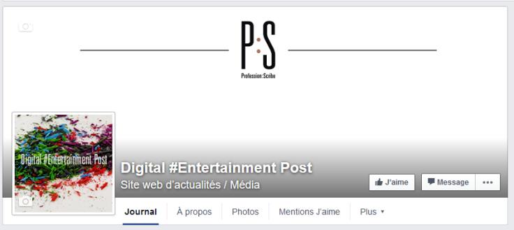 FB digital entertainment post profession scribe ps arts entertainment