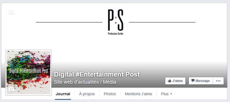 FB digital entertainment post profession scribe ps arts entertainment