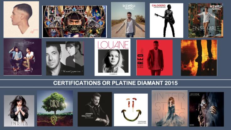Les certifications 2015 sont probablement les dernières à ne se baser que sur les ventes de disques. - SNEP