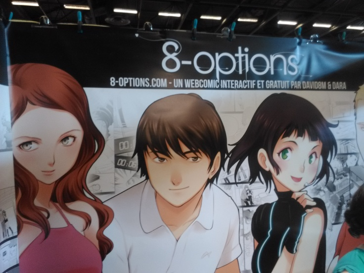 La bannière géante de 8-Options au Festival Japan Expo (France)